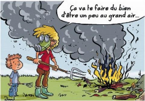 Nuisances - Faire du feu dans son jardin ...